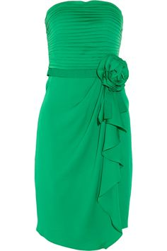 Love the emerald for a bridesmaid dress