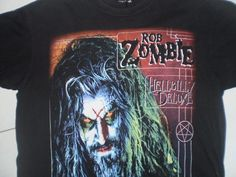 Rob Zombie Hellbilly Deluxe T-shirt size Adult L Band World Tour Concert