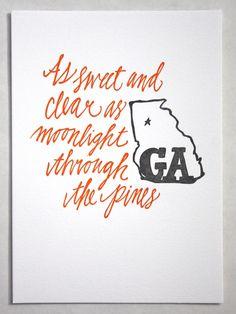 """""""georgia on my mind"""" print $15"""