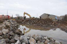 Travaux de déconstruction sur le site Aciérie Allard à Charleroi #spaque #remediation #rehabilitation #fricheindustrielle #brownfields