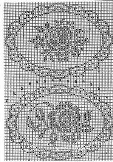 rose punto croce filet | Hobby lavori femminili - ricamo - uncinetto - maglia