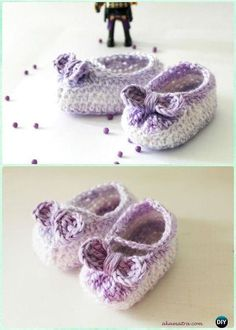 Crochet Bow Booties Baby Shoes Free Pattern - #Crochet Baby Booties Slippers Free Pattern
