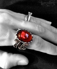 Vampire's Curse Gothic Ring // Ruby Ring // Victorian by horribell