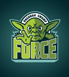 Star Wars Sports Team Logos /// Dagobah Swamp Force /// by WanderingBert / David Creighton-Pester (via Society6)