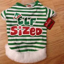 Puppy/Dog ELF SIZED CHRISTMAS SHIRT  Simply Wag small