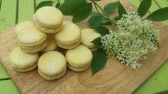 Elderflower and white chocolate macaron. Elderflower, Afternoon Tea, White Chocolate, Macarons, Sweet Recipes, Biscuits, Artisan, Sweets, Fresh