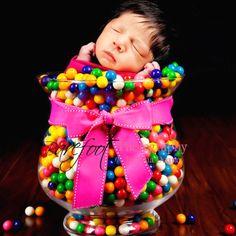 Newborn gumballs pink