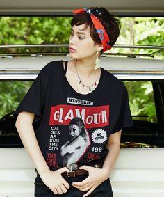 HYSTERIC GLAMOUR(ヒステリックグラマー)の「HYS CALLING pt ビッグ T-SH(Tシャツ/カットソー)」|ブラック