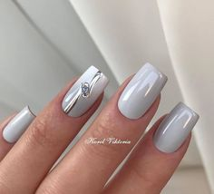 The Effective Pictures We Offer You About dip powder nails A quality picture can tell you many things. Daisy Nail Art, Daisy Nails, Cute Nails, Pretty Nails, Nagellack Trends, Gray Nails, Nagel Gel, Square Nails, Stylish Nails