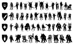 Silhouettes are an important part of my character development process. They are a very useful tool for evaluating and unifying the visual relationships amongst a broad character roster. I am primarily concerned with shape, and gesture at this stage, and How To Make Drawing, Drawing Tips, Drawing Ideas, Design Reference, Art Reference, Character Concept, Concept Art, Character Poses, Body Drawing Tutorial