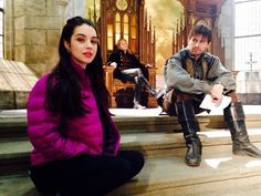 Reign behind the scene Reign Cast, Reign Tv Show, Adelaide Kane, Movies And Series, Tv Series, Bash And Mary, Reign Mary And Francis, Reign Season, Toby Regbo