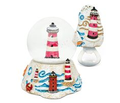 Puzzled Lighthouse Resin Stone Finish Collection including Snow Globe and Magnet Bottle Opener - Unique Elegant Gift and Souvenir -- Find out more details by clicking the image : Home Decor Snow Globes