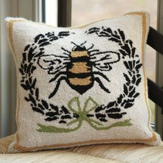 Napoleonic Bee pillow