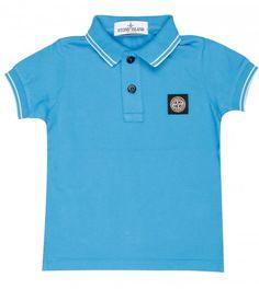 Stone Island Blue Cotton Polo Shirt from www.profilefashion.com