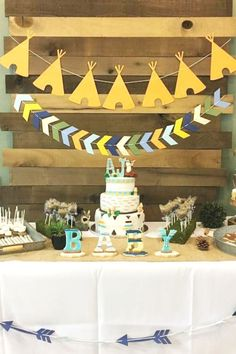 Check out this adorable woodland baby shower! Love the dessert table! See more party ideas and share yours at CatchMyParty.com  #catchmyparty #partyideas #woodlandparty #woodland #woodlandanimlas #woodlandbabyshower #boybabyshower