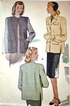 1940s Vintage McCall Pattern 6374 Misses by TabbysVintageShop, $18.00