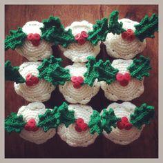 #Crochet #Christmas Pudding Chocolate orange Cosies.