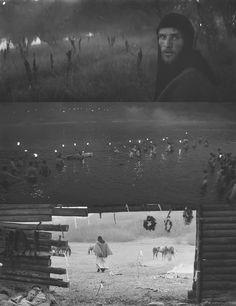 Andrei Rublev. 4th Segment - Feast - 1408 Dir. Andrei Tarkovsky Cinema Movies, Film Movie, Andrei Rublev, Film Recommendations, Light Film, Movie Shots, Film Inspiration, Film Stills, Vintage Movies