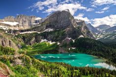 nature, Landscape, Lake, Turquoise, Water, Mountains, Forest ...