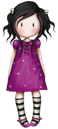 Gorjuss Girl in purple