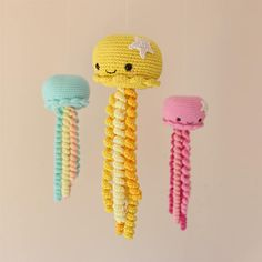 Cute Crochet Octopus toy for Preemie Crocheted Jellyfish, Crochet Octopus, Octopus Octopus, Crochet Dolls, Toy, Unique Jewelry, Handmade Gifts, Crafts, Vintage