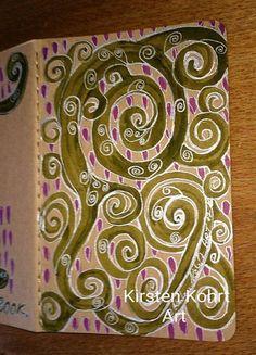 Notizhefte - NOTIZBUCH-DREAMNOTEBOOK RANKEN - KIRSTEN KOHRT ART - ein Designerstück von KIRSTEN-KOHRT-ART bei DaWanda