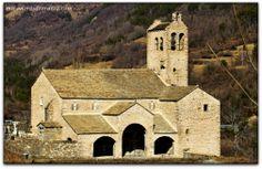 Iglesia de Linas de Broto, Huesca, España.