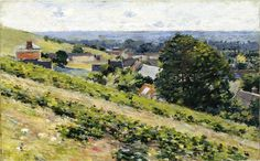 Theodore Robinson (American, 1852-1896), [Old Lyme Colony, Impressionism] From the Hill, Giverny, 1889.
