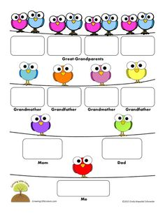 Family Tree Template Word 2007 Google Search Worksheet