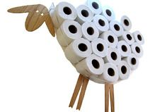 Sheep-shelf for storing 30 rolls of toilet paper