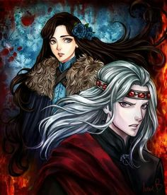 "Lyanna and Rhaegar: ""Ice and Fire"" by AireensColor."