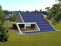 Passive House Design, Modern House Design, Haus Am Hang, Solar Energy For Home, Triangle House, Shipping Container House Plans, Underground Homes, Prefabricated Houses, A Frame House