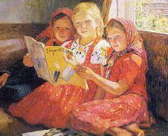 Reading Girls-Nikolai Bogdanov-Belski (1868 – 1945, Russian)