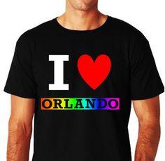 I LOVE ORLANDO PRIDE Pride T Shirt Equality Shirt by ALLGayTees