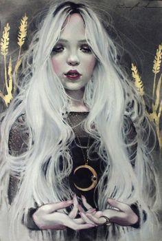 """frrmsd:   Artist:  Kristin Baugh Shiraef   """"Luna... / Mydeadpony"""