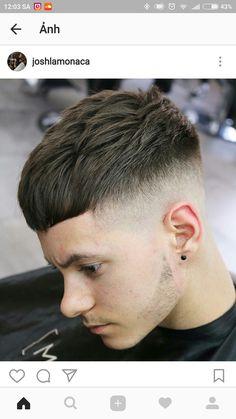 Hair Tips & Tutorials Buzz Cut Hairstyles, Mens Hairstyles With Beard, Hair And Beard Styles, Haircuts For Men, Short Fade Haircut, Short Hair Cuts, Short Hair Styles, Fire Hair, Crop Hair