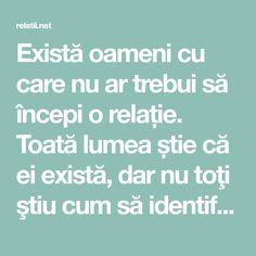 Există oameni cu care nu ar trebui să începi o relație. Toată lumea știe că ei există, dar nu toţi ştiu cum să identifice o astfel de persoană. Recunosc, nici eu nu ştiu 100%. Însă,știu sigur câteva semne care indică în mod clar – cu această persoană nu trebuie să începi o relație! Se întâmplă … Life