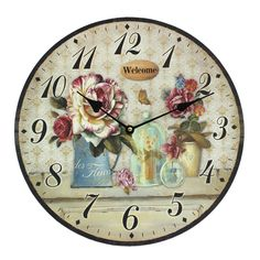 This wall clock gives your home that final touch. Whether a modern kitchen or a cottage kitchen this home decoration wall clock will add a special touch to the room. Price £14.99