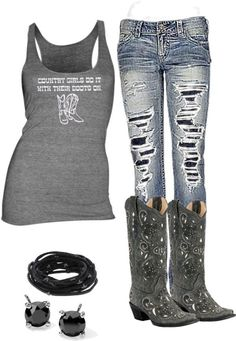 Country girls do it with their boots on!