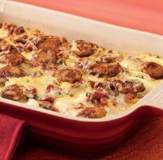 al fresco® Roasted Pepper And Asiago Chicken Sausage Summer Squash Lasagna #sautebetter