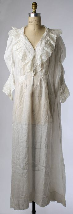 Wedding Lingerie, 1900, French, linen and silk