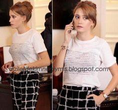 Medcezir - Mira (Serenay Sarıkaya), Topshop White T-Shirt
