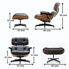 NOVO couro sintético chaise lounge charles and ray eames based on Povoa De…