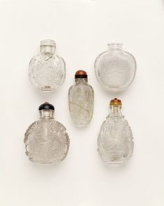The reign of Qianlong  Hand drawing  Pastel   Elephant  auspicious  Snuff bottle
