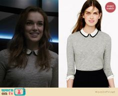 Jemma's grey sweater with white peter pan collar on Agents of SHIELD. Outfit Details: http://wornontv.net/21162 #AgentsofSHIELD #ABC
