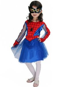Halloween Night Cosplay Masquerade Party Spider-Man Costumes Children Outfits For Girls