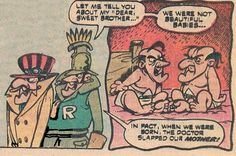 Dick Dastradly of Wacky Races and Dred Baron from Laff-A-Lympics as some downright ugly babies.