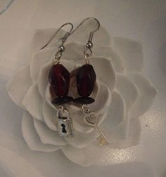 Under lock and key Earrings by SavannahRoseJewelry on Etsy, $12.00