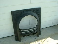 ANTIQUE LATE 1800'S CAST IRON ORNATE FIREPLACE COVER | dining room ...