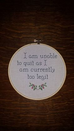 Too legit to quit! Gotta love Hammer. Hey, I found this really awesome Etsy listing at https://www.etsy.com/listing/219726144/i-am-unable-to-quit-as-i-am-currently